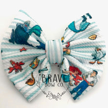 Load image into Gallery viewer, Mermaid Movie Hair Bow - Clip or Nylon