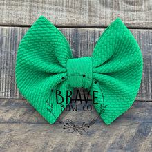 Load image into Gallery viewer, Kelly Green Solid Color Hair Bow or Headband