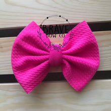 Load image into Gallery viewer, Hot Pink Solid Color Hair Bow or Headband