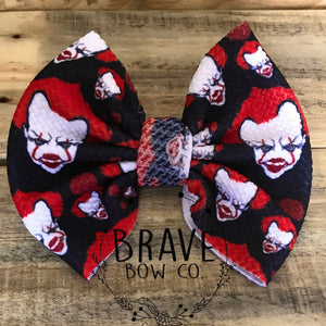 Halloween Clown Hair Bow - Clip or Nylon