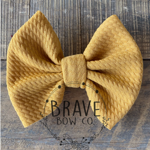 Dijon Solid Color Hair Bow or Hair Band