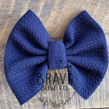 Load image into Gallery viewer, Navy Blue Solid Color Hair Bow or Hair Band
