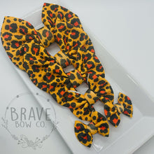 Load image into Gallery viewer, Cheetah Brown Hair Bow - Clip or Nylon