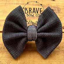 Load image into Gallery viewer, Black Leopard Hair Bow - Clip or Nylon