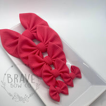 Load image into Gallery viewer, Coral Pink Hair Bow - Clip or Nylon