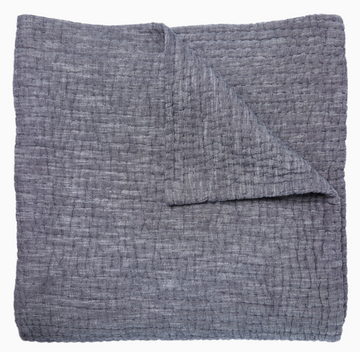 JR Vivada Gray Woven Coverlet Twin