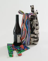 Wine Baggu- Set of 3- Forest Floor