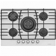 SILVERLINE HOB CS5223 70CM GLASS TOP WITH SAFETY & CAST IRON