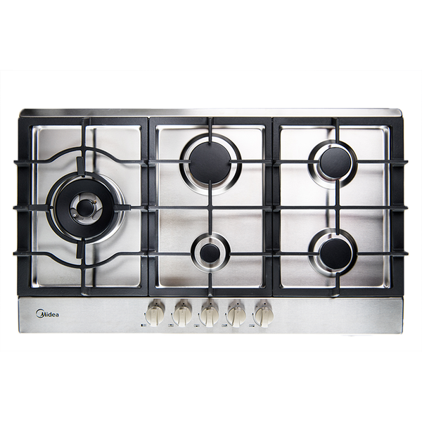 [Essential item] Midea 90cm Gas Cooktop Stainless Steel 90G50ME005-SFL - Mideanz