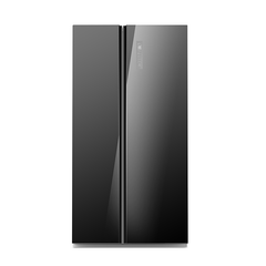 [Essential item] Midea 584L  Fridge Freezer Black Glass JHSBSINV584BK - Mideanz