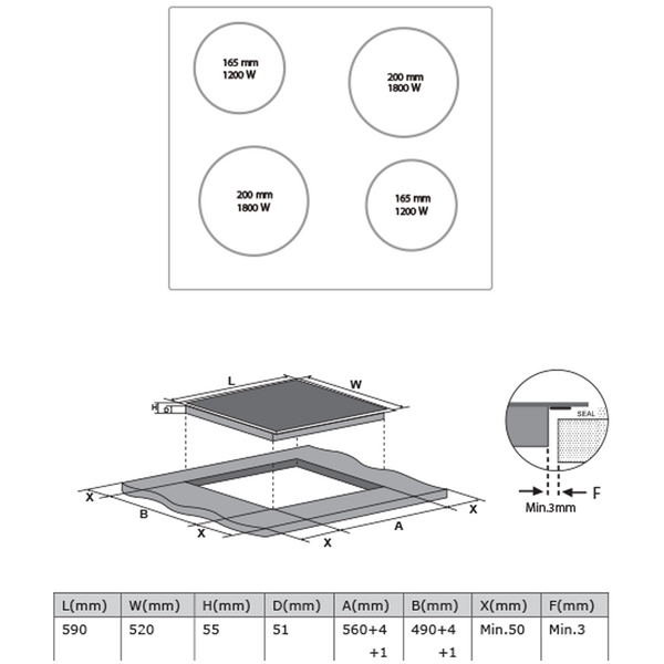 Midea 60cm Ceramic hob Touch Control MC-CH6002 - Midea | Home Appliances New Zealand