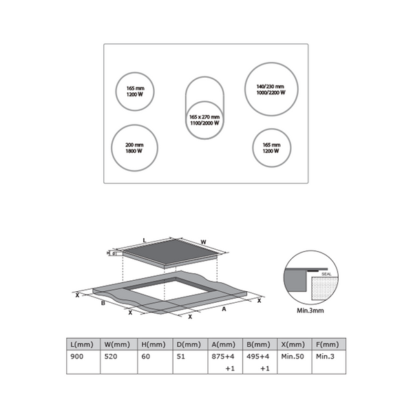 [Essential item] Midea 90cm Ceramic Cooktop MC-HV848 - Mideanz
