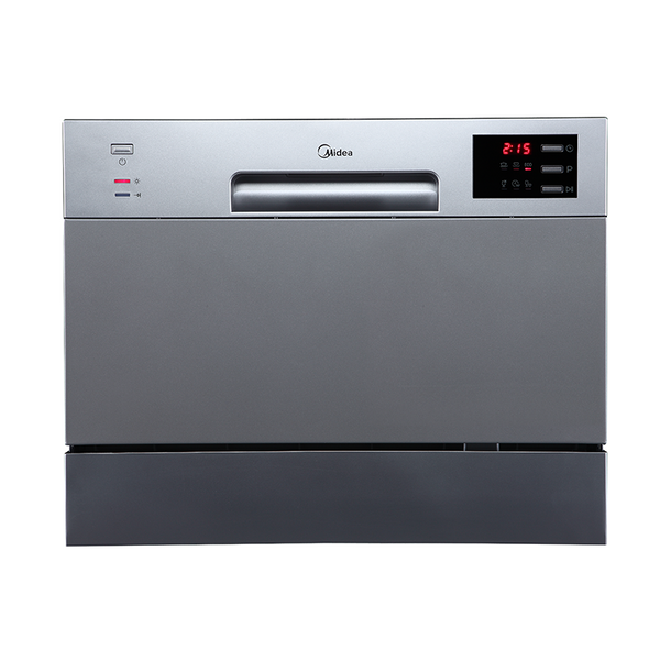 [Essential item] Midea 6 Place Setting Bench Top Dishwasher Stainless Steel JHDW6TT - Mideanz