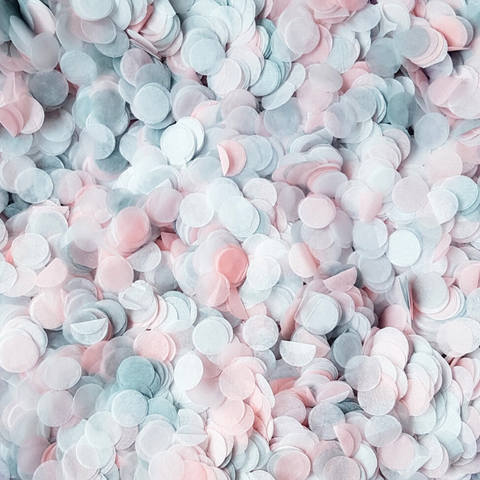 Pink, Grey & White Confetti Circles