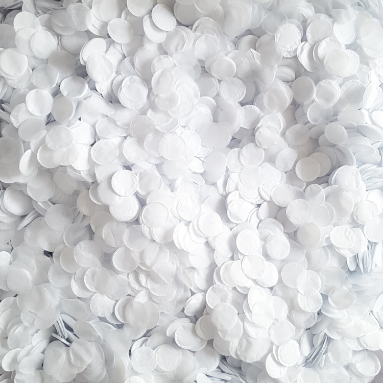 White Biodegradable Confetti - Proper Confetti