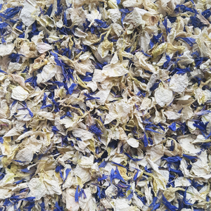 Royal Blue & Ivory Petal Confetti