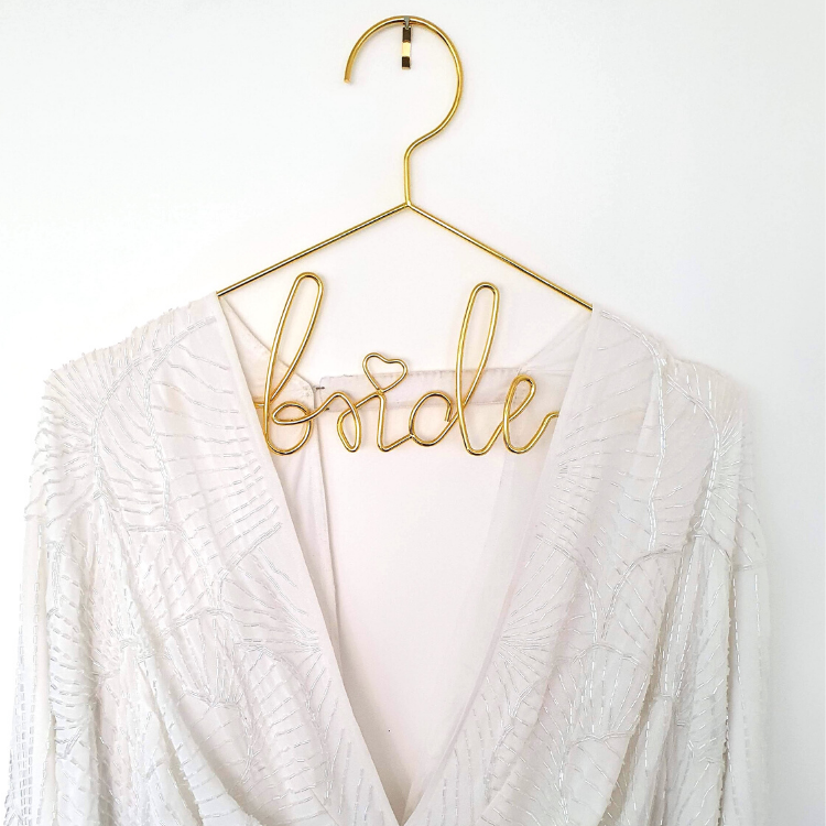 Gold Bride Dress Hanger