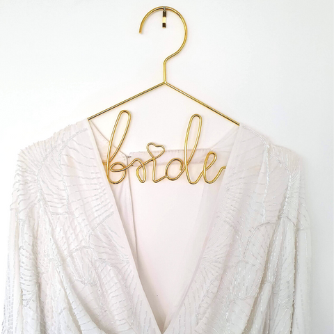 Gold Bride Dress Hanger - properconfetti.myshopify.com