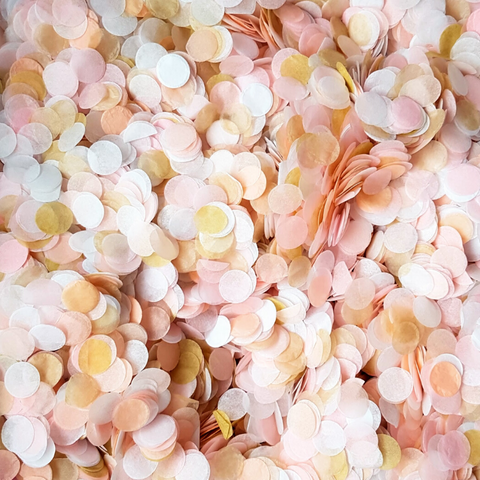 Blush Pink Wedding Confetti Circles - Biodegradable Confetti by Proper Confetti
