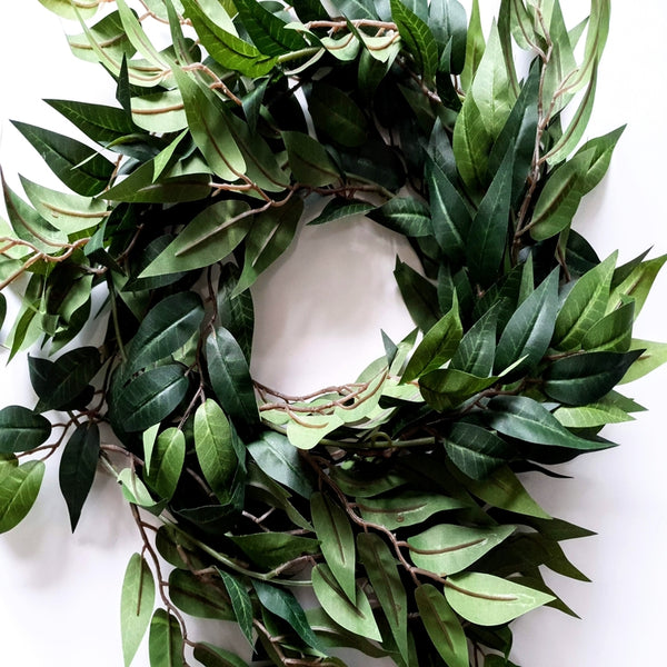 Artificial Green Ruscus Leaf Garland