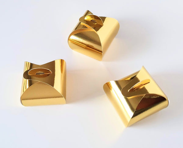 Metallic Gold Favour Boxes