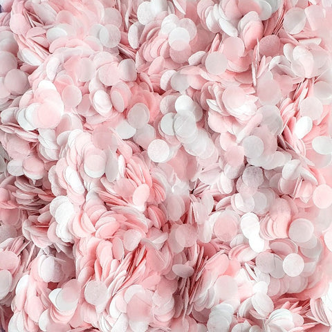 Pink and White Paper Confetti