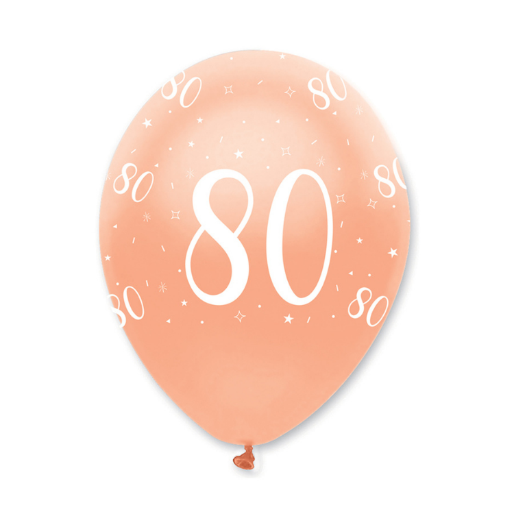 Rose Gold 80th Birthday Balloon | Proper Confetti