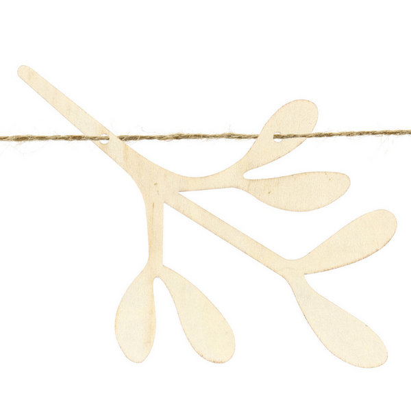 Wooden Christmas Decoration - Christmas Mistletoe