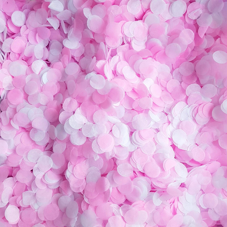 Hot Pink & White Confetti Circles