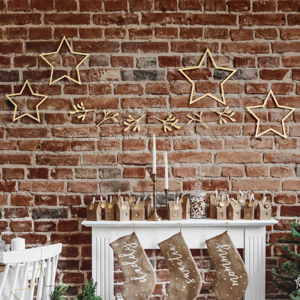 Wooden Stars - Christmas Hanging Decorations | Proper Confetti