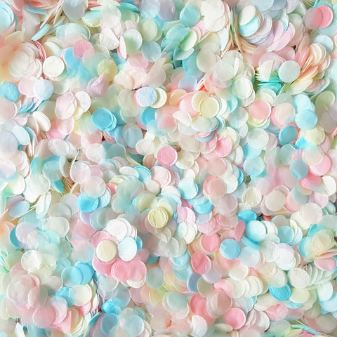 Pink, Blue & Ivory Confetti Circles
