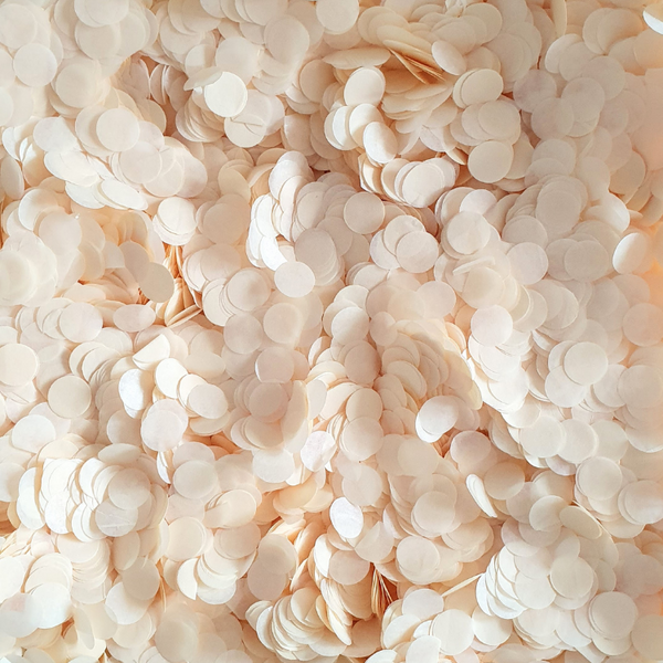 Biodegradable Confetti in Ivory and Cream | Proper Confetti