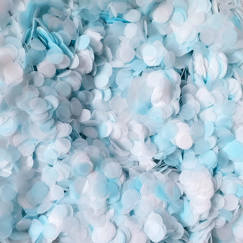 Blue and White Paper Confetti - Biodegradable Confetti by Proper Confetti