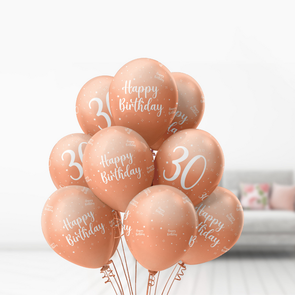80th Birthday Rose Gold Balloons