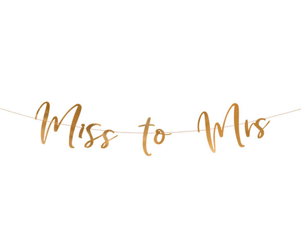 Miss to Mrs Rose Gold Bunting - properconfetti.myshopify.com