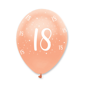 18th Rose Gold Birthday Balloons | Proper Confetti