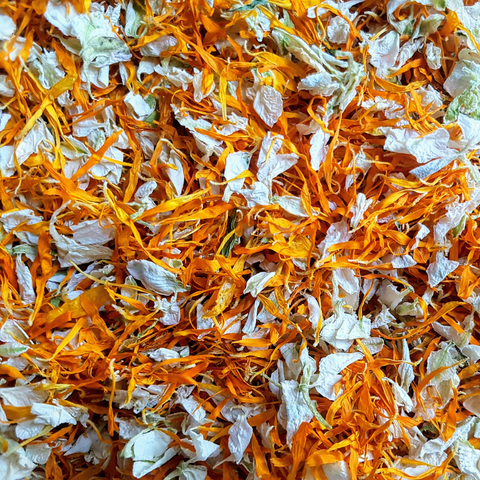 Orange & Ivory Biodegradable Petal Confetti - Proper Confetti