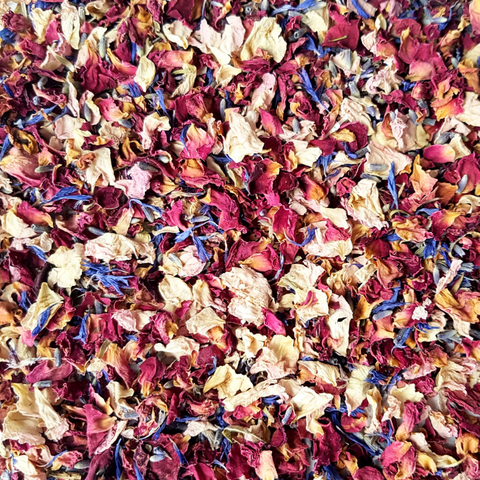 Pink & Red Dried Rose Petal Confetti - properconfetti.myshopify.com