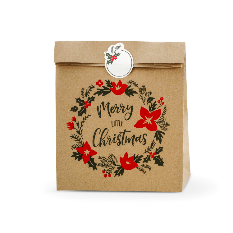 Kraft Eco Merry Christmas Gift Bag