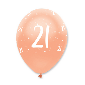 21st Rose Gold Birthday Balloons | Proper Confetti