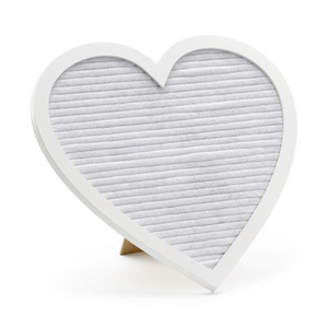Heart Shape White Letter Board