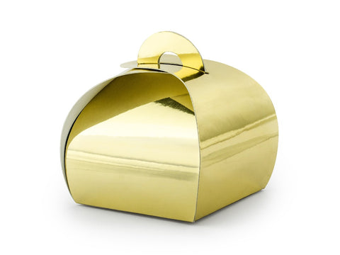 10 Gold Favour Boxes | Proper Confetti