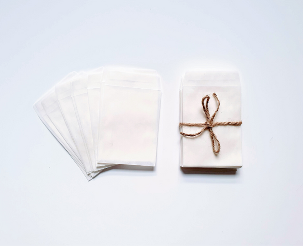 White Glassine Envelopes - Proper Confetti
