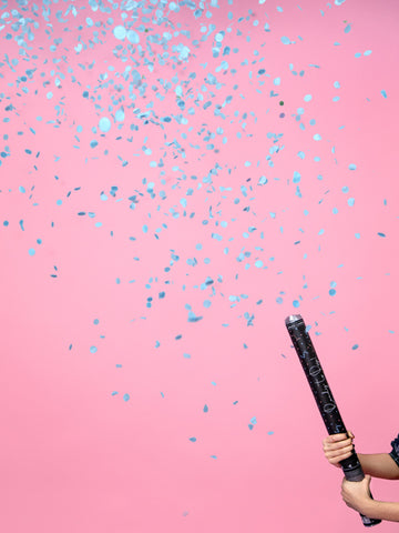 Giant Gender Reveal Confetti Cannon - Blue - properconfetti.myshopify.com