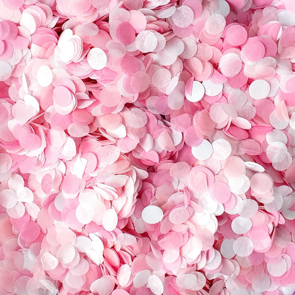 Pretty in Pink Confetti Circles