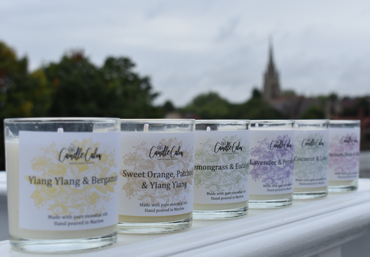 A collection of luxury candles
