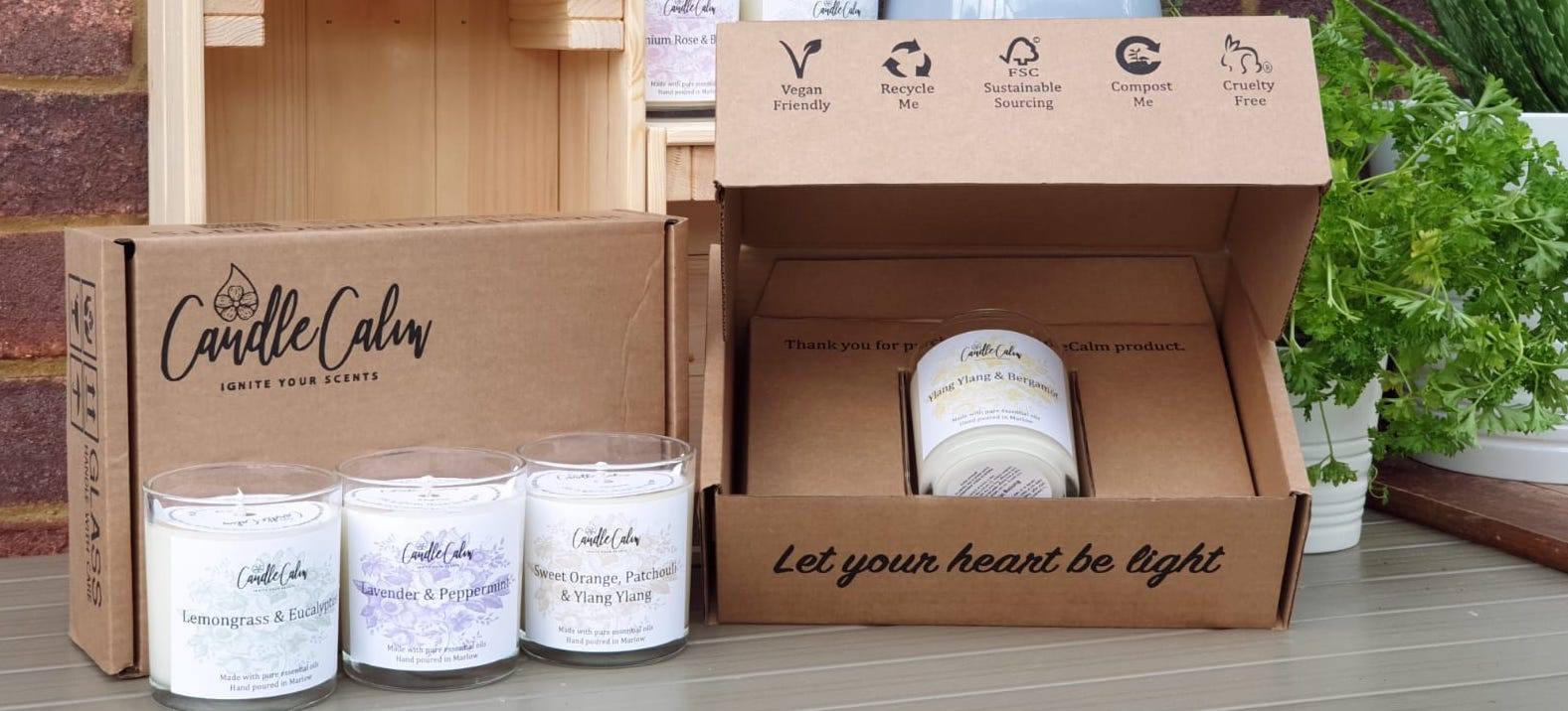 Paper candle box packaging