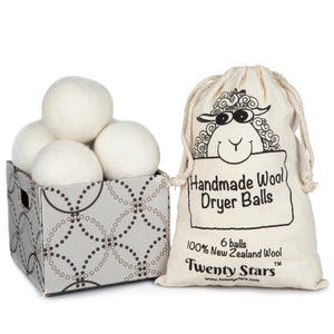Wool Dryer Balls, Pack of 6