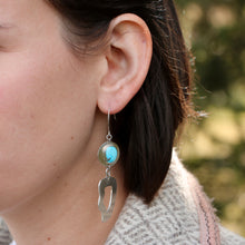 Load image into Gallery viewer, Asymmetrical Turquoise Earrings