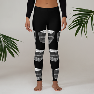 """Heart On Ice"" Leggings - Sk1wvlkr Apparel"